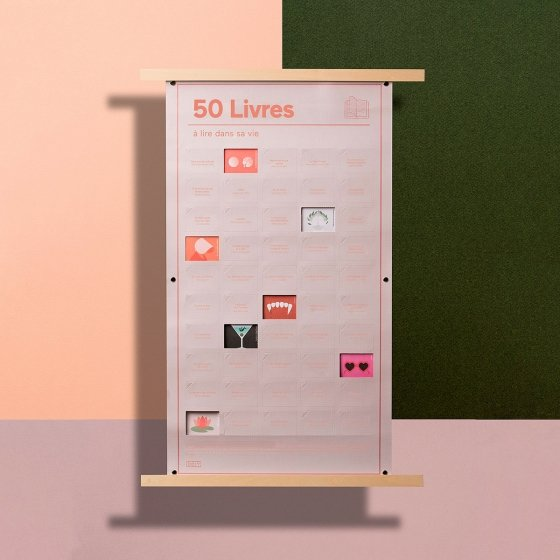 """Affiche """"50 choses à faire dans une vie"""""""