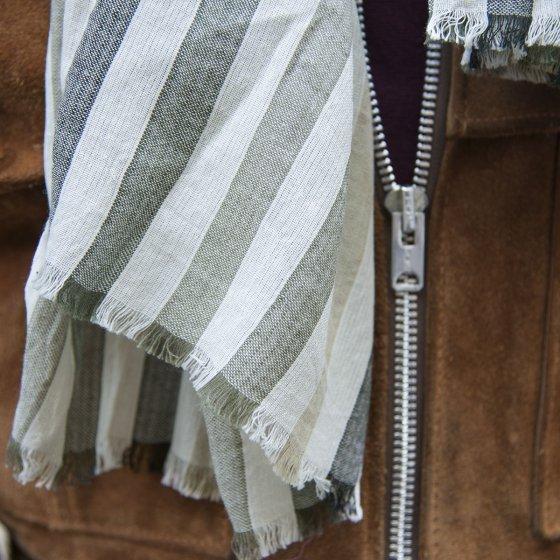 Écharpe en coton écossais