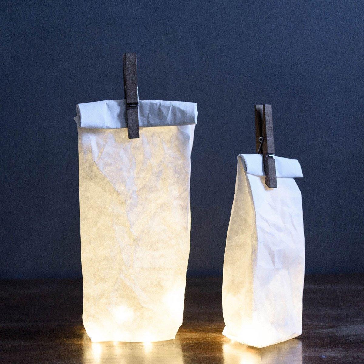 Lampe sac en papier
