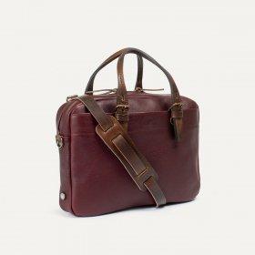Briefcase en cuir Bleu de Chauffe