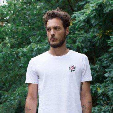 T-Shirt Brodé Rose Johnny Romance