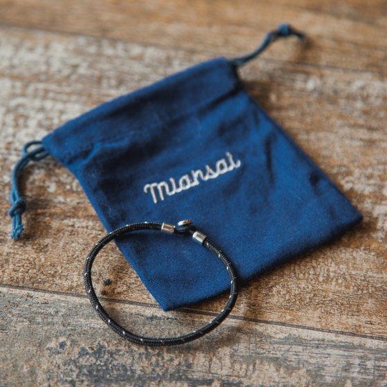 Bracelet en nylon et argent Miansai