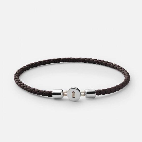 Bracelet en cuir tressé et argent Miansai
