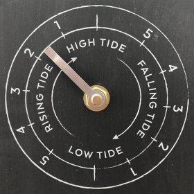 Horloge temps, lune, marées