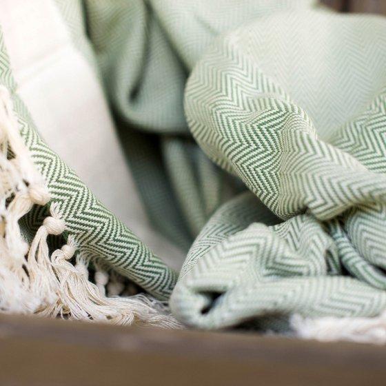 Plaid XXL, en coton peigné