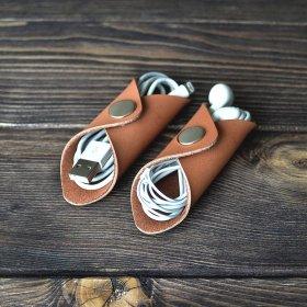 Porte-câble en cuir