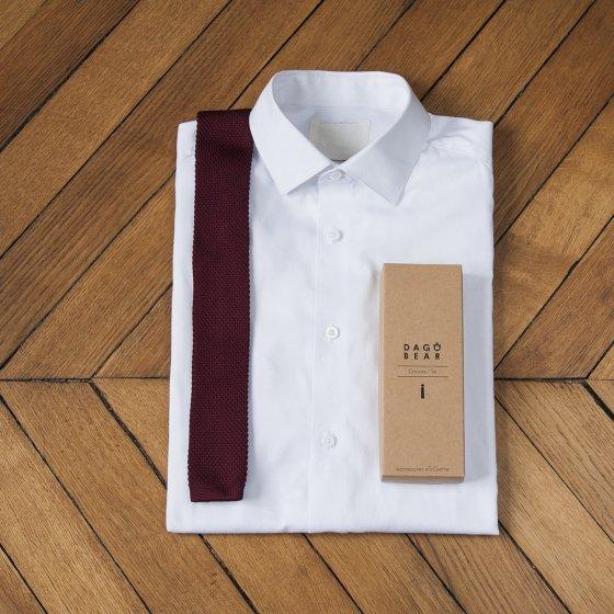 Cravate en soie tressée