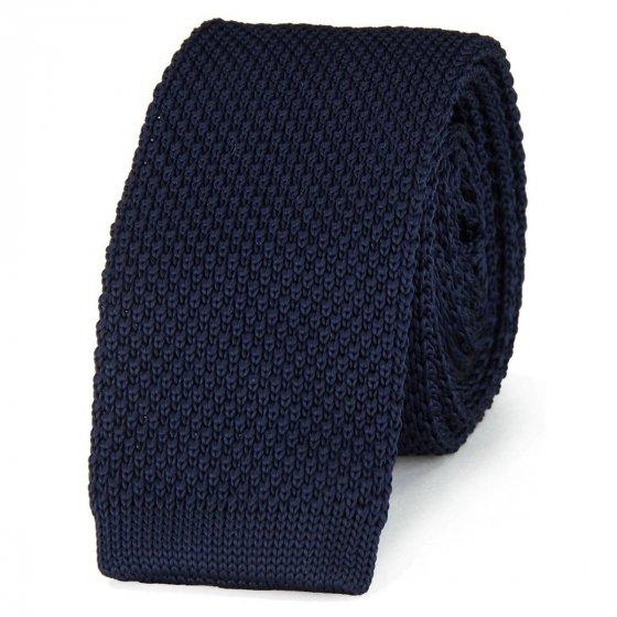 Cravate en maille tressée unie