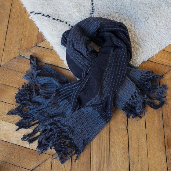 Chèche Malte en laine tissée