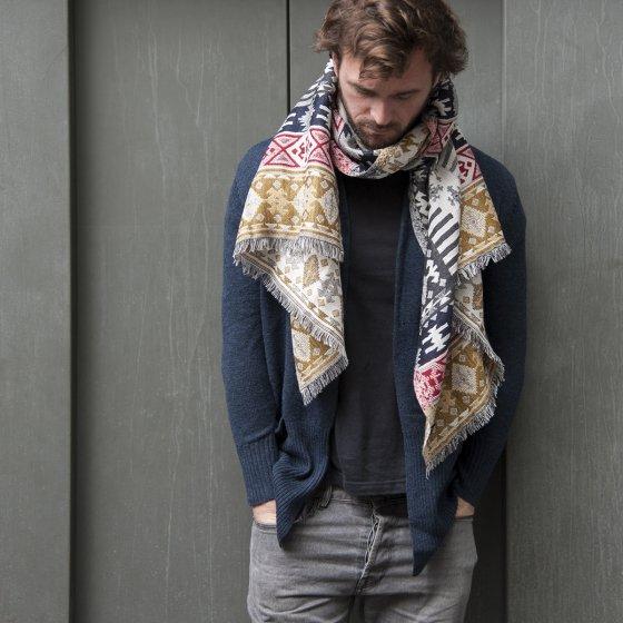 Écharpe Jacquard en laine