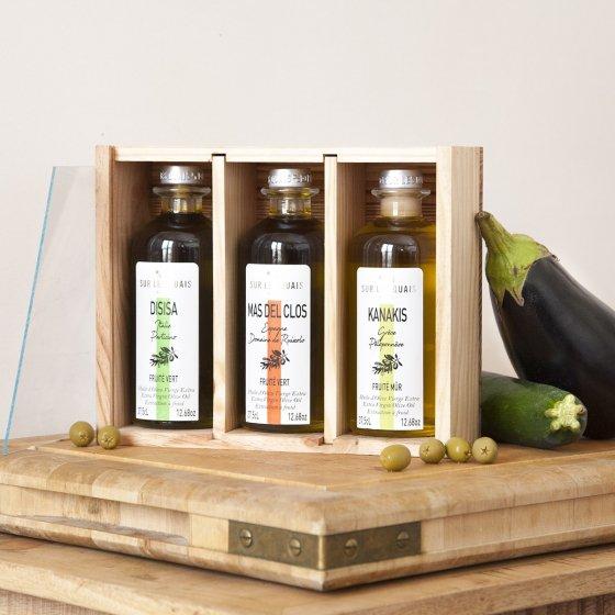 Coffret grands crus d'huile d'olive