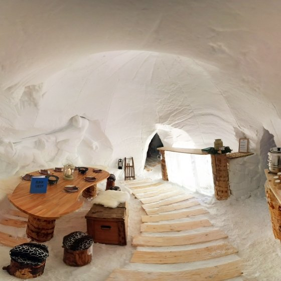 Une nuit à deux dans un igloo