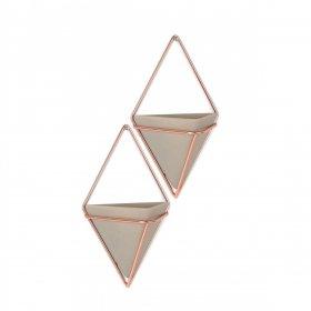 Duo de rangements muraux en cuivre